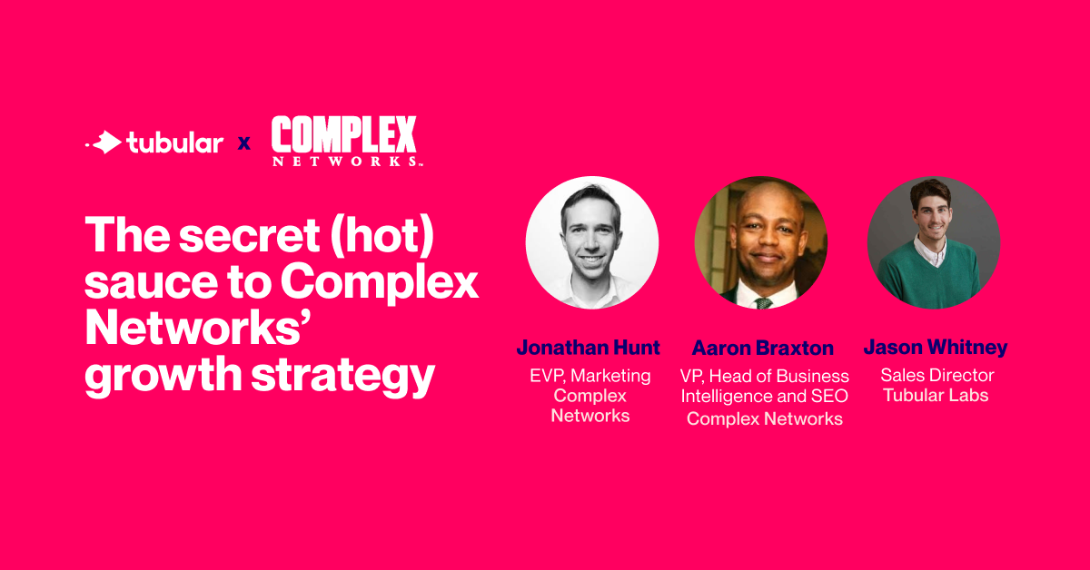 WEBINAR: The secret (hot) sauce to Complex Networks' growth strategy
