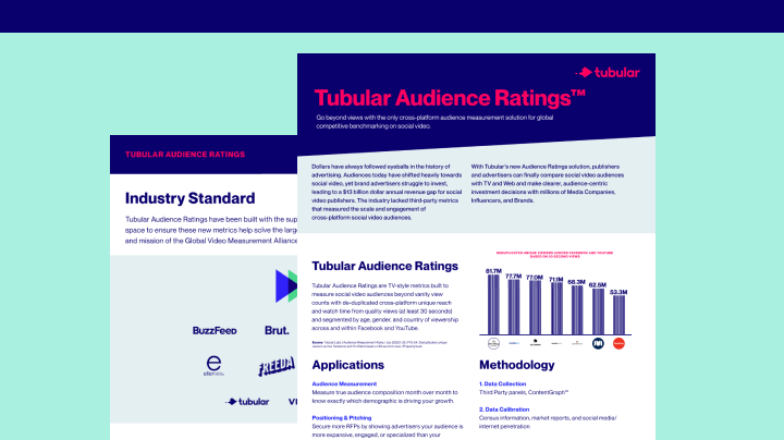 Tubular Audience Ratings™ Overview