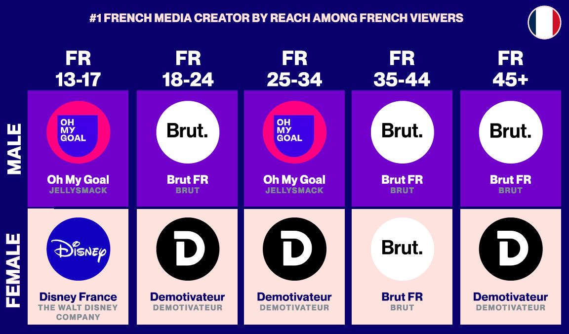 Top 10 Cross-Platform French Media Giants Based on True Audience Measurement