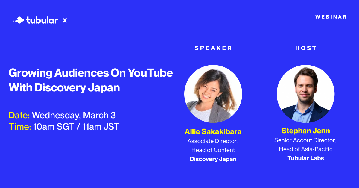 WEBINAR: Growing Audiences on YouTube with Discovery Japan